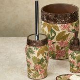 Tropical Haven Toilet Brush in Holder Light Cream