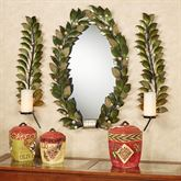 Emerging Autumn Mirror and Sconce Set Green Set of Three