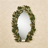 Emerging Autumn Oval Wall Mirror Green