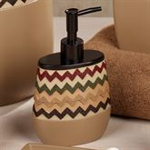 Waves Lotion Soap Dispenser Tan/Brown