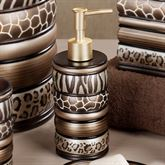 Safari Stripes Lotion Soap Dispenser Multi Metallic