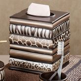 Safari Stripes Tissue Cover Multi Metallic