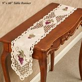 Cluster of Grapes Long Table Runner Cream 9 x 60