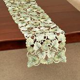 Ginkgo Leaves Long Table Runner Light Green 13 x 62