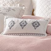 Jolie Embroidered Pillow Eggshell Rectangle