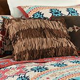 Tulsa Fringed Pillow Tawny 18 Square