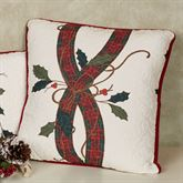 Nouveau Stripe Quilted Square Pillow Off White 18 Square
