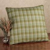 Green Plaid Piped European Sham