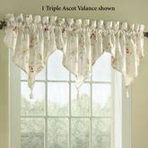 Chantelle Triple Ascot Valance Light Cream 48 x 16