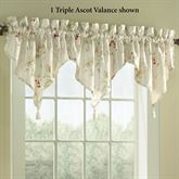 Chantelle Triple Ascot Valance Light Cream 48 x 16