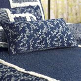 Bandana Block Quilted Pillow Midnight Rectangle