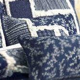 Bandana Block Quilted Pillow Midnight 15 Square