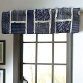 Bandana Block Tailored Valance Midnight 60 x 15