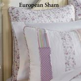 Lavender Rail Quilted Sham White European