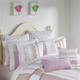 Lavender Rail Quilted Pillow Lilac Rectangle