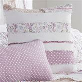 Lavender Rail Quilted Pillow White 15 Square