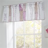 Lavender Rail Tailored Valance White 56 x 15