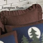 Bear Dance Flanged Sham Chocolate European