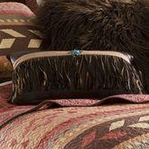 Broken Arrow Fringed Tailored Pillow Chocolate Rectangle