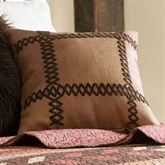 Broken Arrow Tailored Pillow Saddle Brown 18 Square