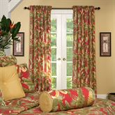 Captiva Wide Tailored Curtain Pair Dark Red 100 x 84