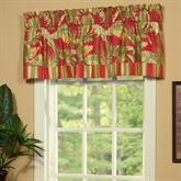 Captiva Tailored Valance Dark Red 72 x 16