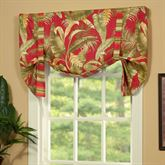Captiva Tie Up Valance Dark Red 52 x 20
