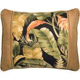 La Selva Corded Pillow Black Rectangle