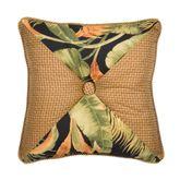 La Selva Tufted Pillow Black 18 Square