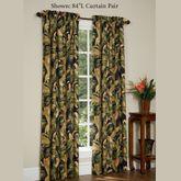 La Selva Wide Tailored Curtain Pair Black 100 x 84