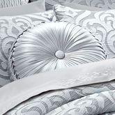 Harrison Tufted Pillow Chrome Round