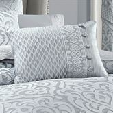 Harrison Piped Pillow Chrome Rectangle