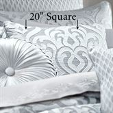 Harrison Piped Pillow Chrome 20 Square