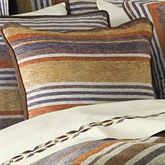 Montaneros Striped Piped Pillow Rust 18 Square
