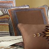 Montaneros Framed Piped Pillow Brown 20 Square