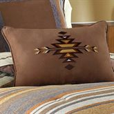 Montaneros Embroidered Pillow Brown Rectangle