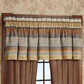 Montaneros Tailored Valance Rust 88 x 20.25