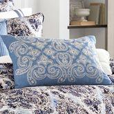 Santorini Indigo Embroidered Pillow Rectangle