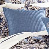 Santorini Indigo Quilted Pillow 18 Square