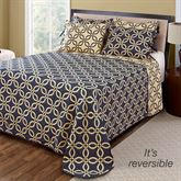 Memphis Reversible Bedspread Midnight