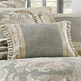 Rialto Flanged Pillow Slate Gray Rectangle