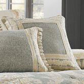 Rialto Piped Pillow Slate Gray 18 Square