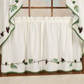 Grape Border Tailored Tier Pair Ecru