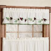 Grape Border Tailored Valance Ecru 60 x 12