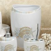 By the Sea Wastebasket White