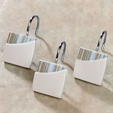 By the Sea Shower Curtain Hooks White Set of Twelve