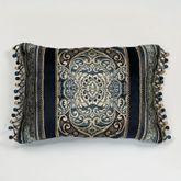 Virtuoso Bead Tassel Pillow Midnight Rectangle