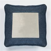 Spellbound Metallic Piped Pillow Indigo 18 Square
