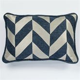 Spellbound Chevron Piped Pillow Indigo Rectangle