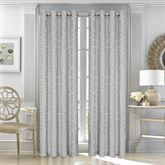 Kennedy Wide Grommet Curtain Pair Silver 100 x 84